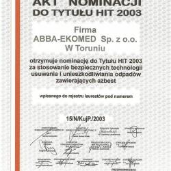 nagroda-hit2003